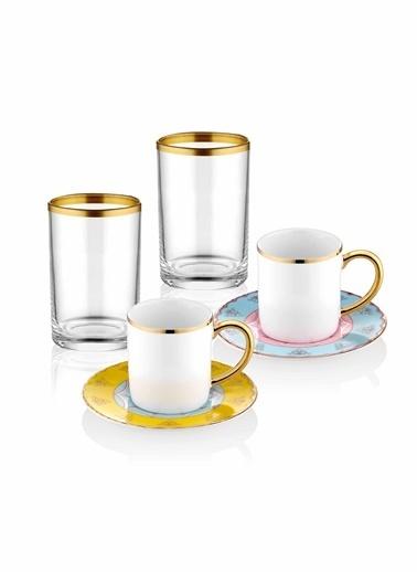 The Mia Bugle Kahve & Kahve Yanısu Bardağı - 2 Kişilik Renkli
